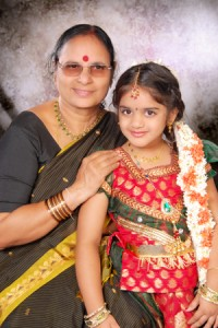 Ankita with her Grandma