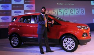 Mr.Joginder singh during the launch of Ford EcoSport!