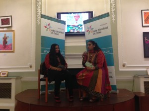 Ashanti Omkar and Jyotsna Srikanth during the Press meet in London