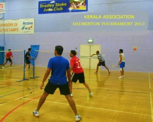 Badminton Matches in progress - Kerala Association of Bradley Stoke & South Glos