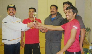 Kerala Association of Bradley Stoke & South Glos's - Badminton Second Runner's Up Trophy presentation 2013