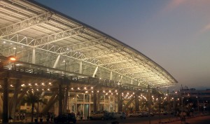 Glass panels shatter again at Chennai airport