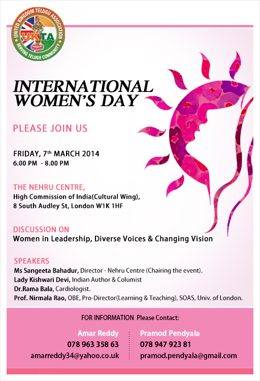 International Women's Day by UK Telugu Association