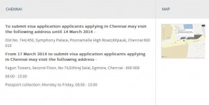 New UK Visa center at Chennai