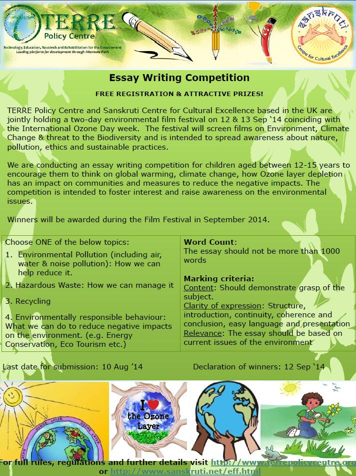 Help in writing an essay competition topics