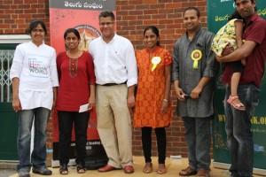 Mr.Alok Sharma MP for reading at Telugu Reading & Around -Summber Fest 2014