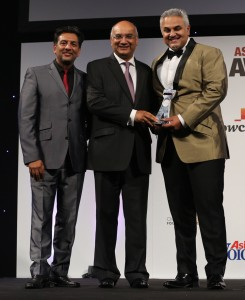 Nitin Ganatra, Keith Vaz, Dr Richie Nanda, Entrepreneur of the Year 2014