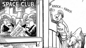 The New York Times newspaper's cartoon on India's Mars Mission