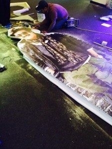 Lingaa Cut-out getting ready at the Boleyn Cinema - London