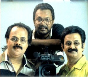 'Crazy' Mohan and 'Maadhu' Balaji with Dir.Kanthan (Pic captured in the year 1987)